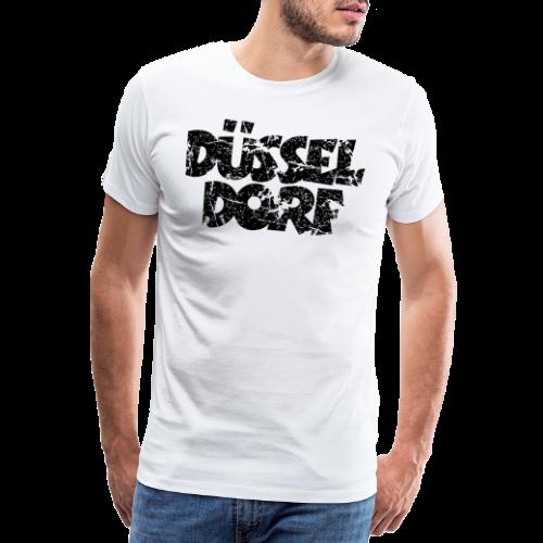 Düsseldorf (Distressed Schwarz) - Männer Premium T-Shirt