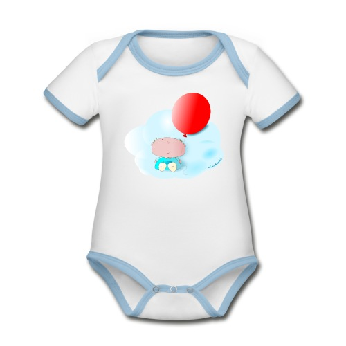 Petit amb globus - Body contraste para bebé de tejido orgánico