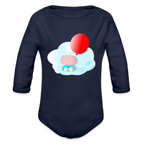 Petit amb globus - Body orgánico de manga larga para bebé