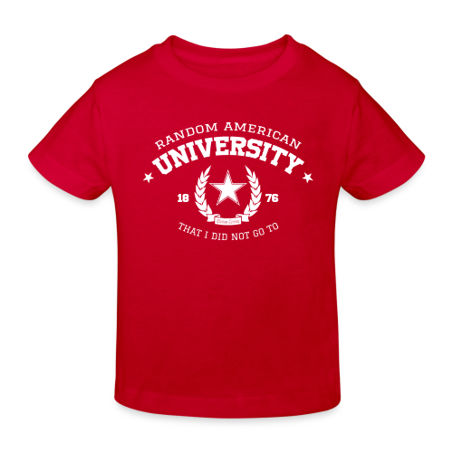 University kindershirt bio - Kinderen Bio-T-shirt