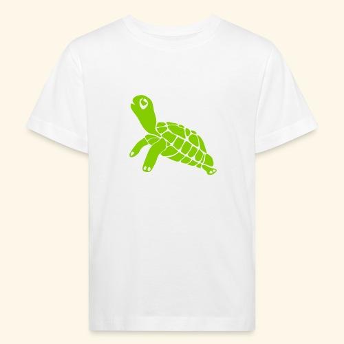 kleine grüße Schildkröte auf Kindershirt - Kinder Bio-T-Shirt