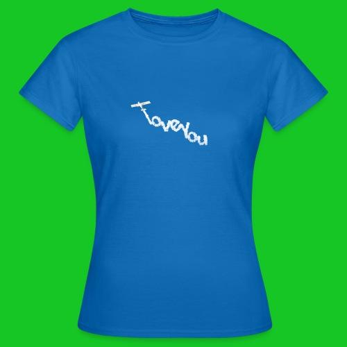 I love you vliegtuig damest-shirt - Vrouwen T-shirt