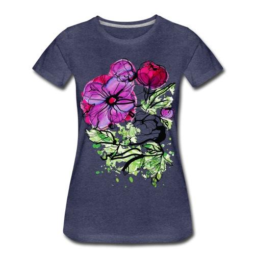Pink Peony flower Women's Premium T-Shirt - Women's Premium T-Shirt