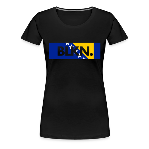 BLKN. x BOSNIAN flag - Women's Premium T-Shirt