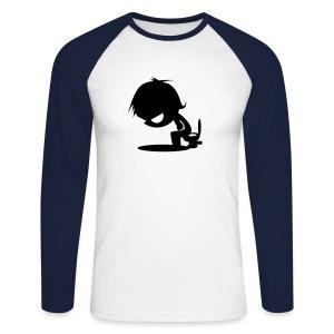 Langermet baseball-skjorte for menn