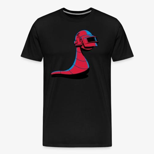 the worm retro - 3 Color Edition - Men's Premium T-Shirt