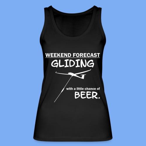 Wochenende Vorhersage - Segelflieger T-Shirt - Frauen Bio Tank Top von Stanley & Stella
