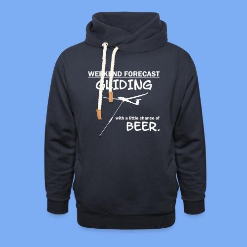 Wochenende Vorhersage - Segelflieger T-Shirt - Schalkragen Hoodie