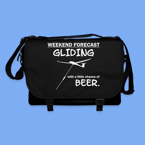 Wochenende Vorhersage - Segelflieger T-Shirt - Shoulder Bag