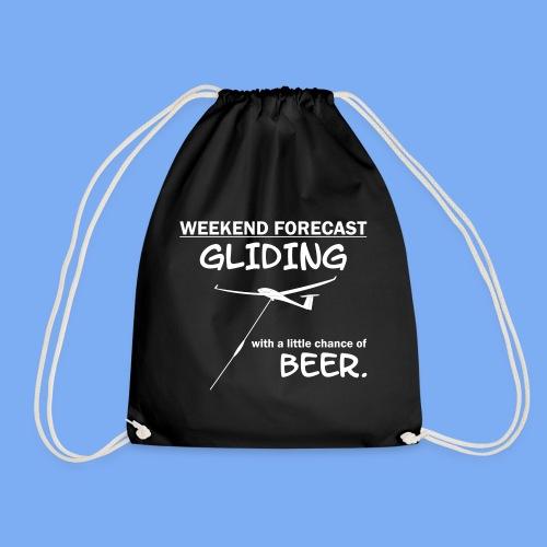 Wochenende Vorhersage - Segelflieger T-Shirt - Drawstring Bag