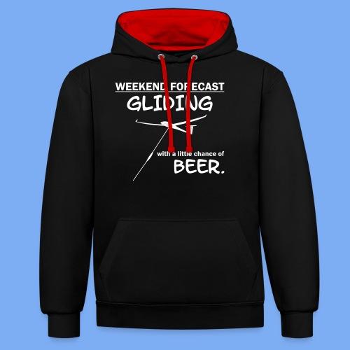 Wochenende Vorhersage - Segelflieger T-Shirt - Contrast Colour Hoodie