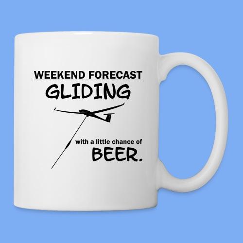 Wochenende Vorhersage - Segelflieger T-Shirt - Mug