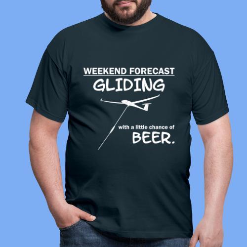 Wochenende Vorhersage - Segelflieger T-Shirt - Men's T-Shirt
