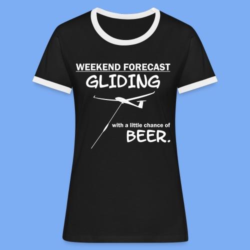 Wochenende Vorhersage - Segelflieger T-Shirt - Women's Ringer T-Shirt