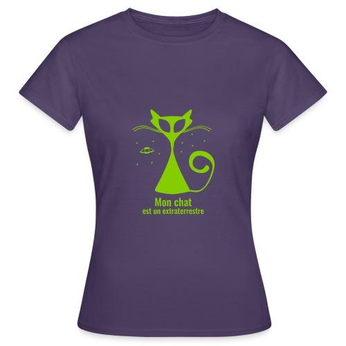 Mon chat est un extraterrestre - T-shirt Femme