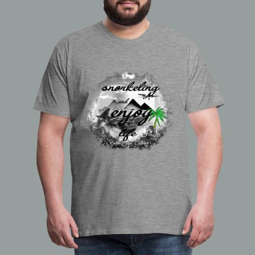 snorkeling and enjoy life - Männer Premium T-Shirt