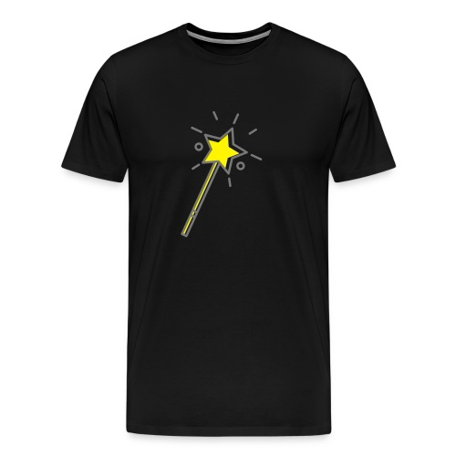 T-Shirt Zauberstab + WH-Logo (Rücken) - Männer Premium T-Shirt