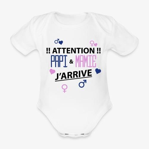 Papi Mamie J'arrive - Body bébé bio manches courtes