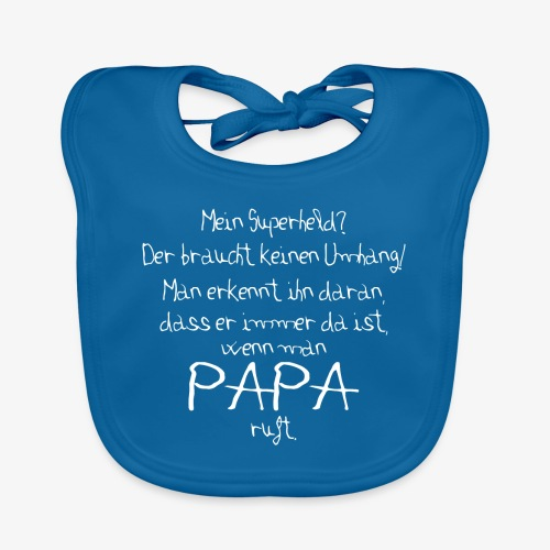 Baby Bio-Lätzchen Superheld Papa - Baby Bio-Lätzchen