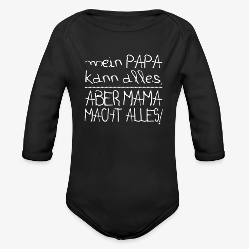 Baby Bio-Langarm-Body Mama macht alles - Baby Bio-Langarm-Body
