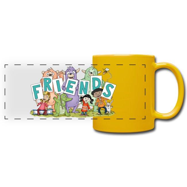 Monster-Friends - Panoramatasse farbig