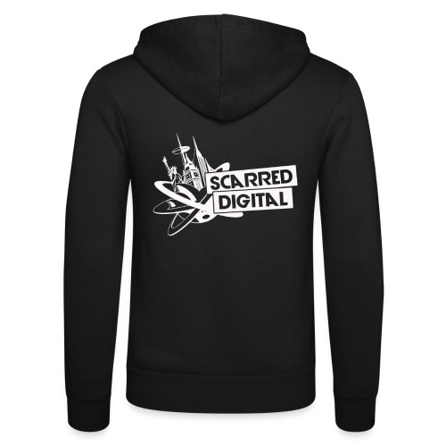 NEW Scarred Digital Zip Up Hoodies - Unisex Hooded Jacket by Bella + Canvas