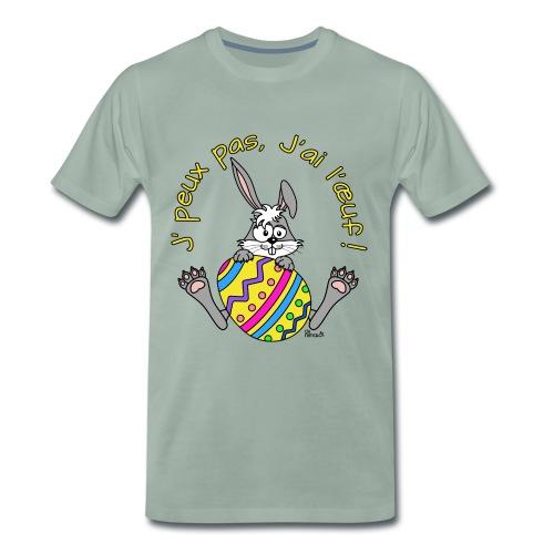 T-shirt Homme Lapin de Pâques, Je peux pas, j'ai l'oeuf! - T-shirt Premium Homme