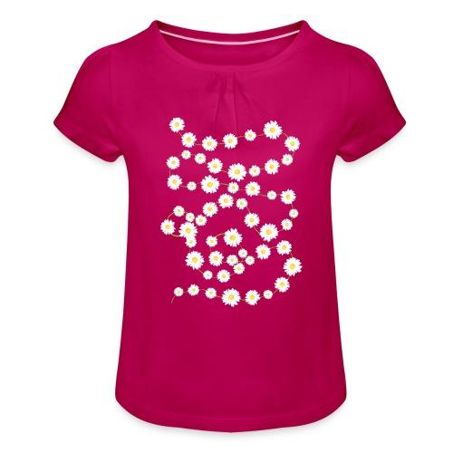 Daisy Chain - Mädchen-T-Shirt mit Raffungen - Mädchen-T-Shirt mit Raffungen