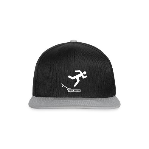 Falling skateboarder cap - Snapback Cap