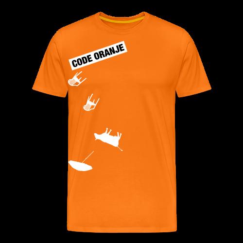 Code oranje mannen t-shirt - Mannen Premium T-shirt