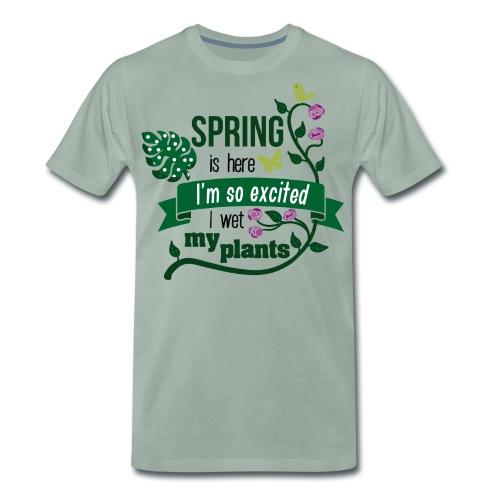 Spring wet my plants - Männer Premium T-Shirt