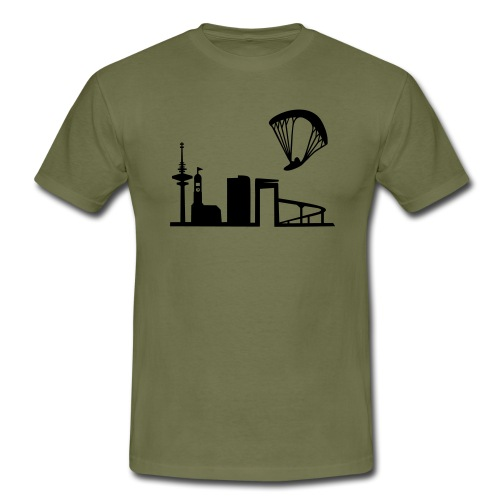 Gleitschirm über Hamburg - Männer T-Shirt