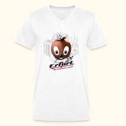 Männer Bio-T-Shirt mit V-Ausschnitt Pittiplatsch Erfurt - Männer Bio-T-Shirt mit V-Ausschnitt von Stanley & Stella
