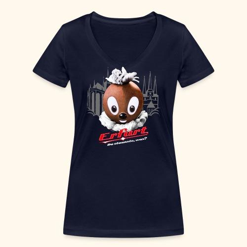 Frauen Bio-T-Shirt mit V-Ausschnitt Pittiplatsch Erfurt - Frauen Bio-T-Shirt mit V-Ausschnitt von Stanley & Stella
