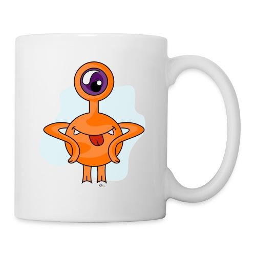 Mug Petit Monstre Orange - Mug blanc