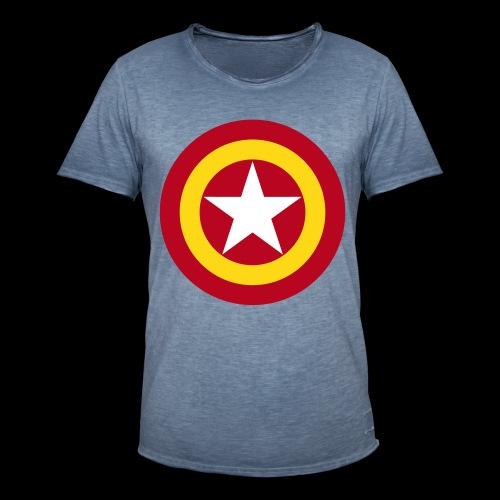 Escudo de España con estrella - Camiseta vintage hombre