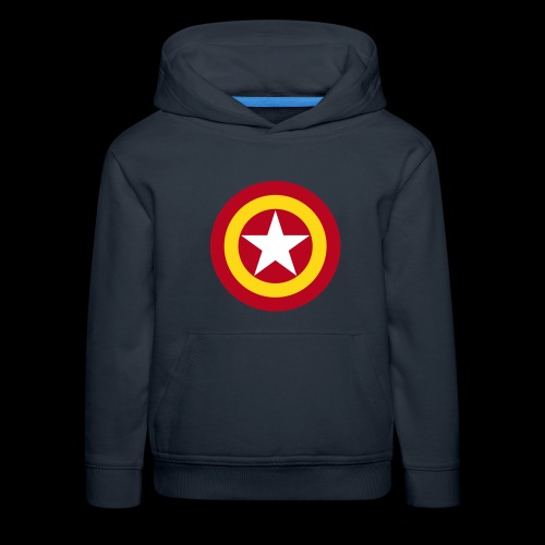 Escudo de España con estrella - Sudadera con capucha premium niño