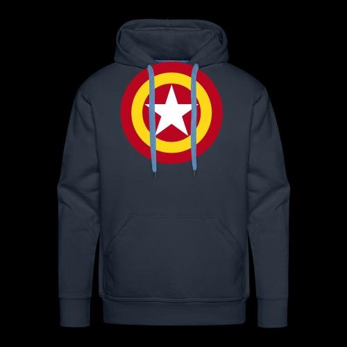 Escudo de España con estrella - Sudadera con capucha premium para hombre
