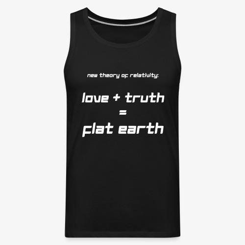 Männer Premium Tank Top Flat Earth - Männer Premium Tank Top