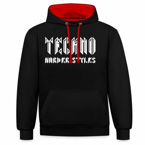 Techno  Harder Styles - Hoodie - Kontrast-Hoodie