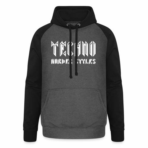Techno  Harder Styles - Hoodie - Unisex Baseball Hoodie