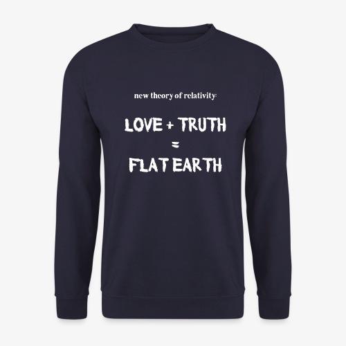 Männer Pullover flat earth - Männer Pullover