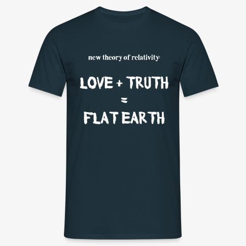 Männer T-Shirt flat earth - Männer T-Shirt