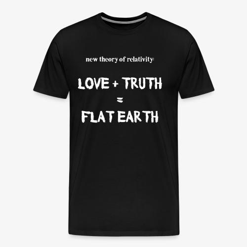 Männer Premium T-Shirt flat earth - Männer Premium T-Shirt