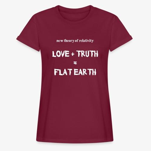 Frauen Oversize T-Shirt flat earth - Frauen Oversize T-Shirt