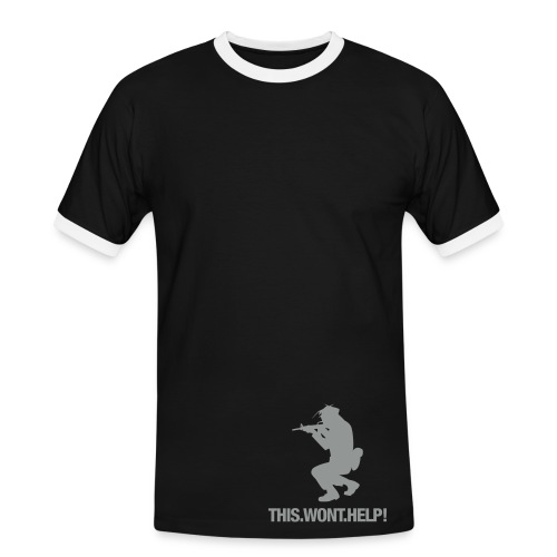 this won´t help - Männer Kontrast-T-Shirt