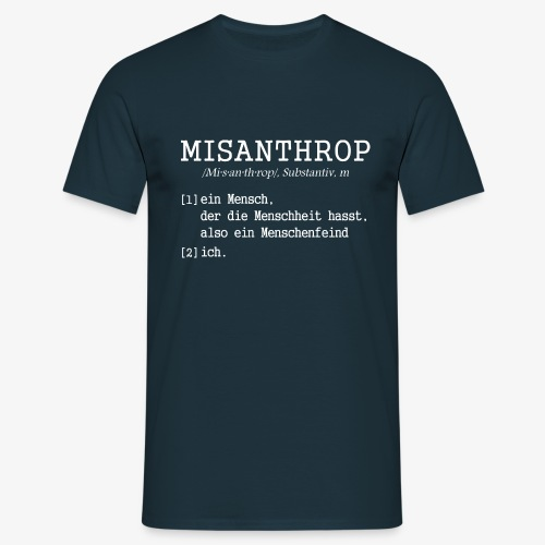 Männer T-Shirt MISANTHROP - Männer T-Shirt