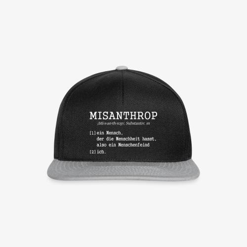 Snapback Cap MISANTHROP - Snapback Cap