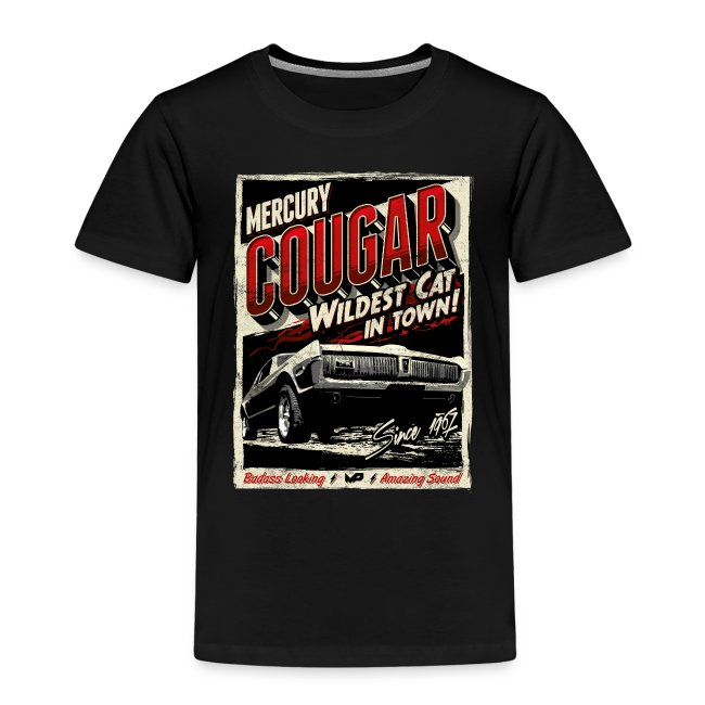 Cougar / Rot / Kinder T-Shirt