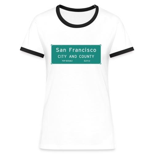 Panneau San Francisco - T-shirt contrasté Femme